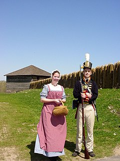 Fort Meigs historic fort in Ohio, USA
