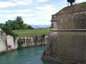 Peschiera del Garda - Western corner of the fortress