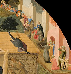 Adoration of the Magi (Fra Angelico and Filippo Lippi) - Detail probably including work from three phases