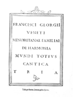 Christian Kabbalah - front page of Francesco Giorgi's De harmonia mundi.