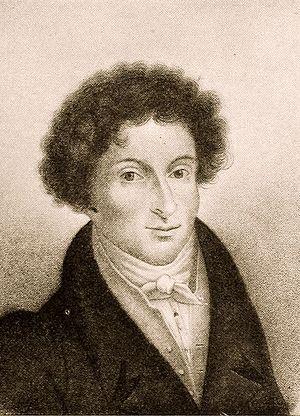 Francesco Morlacchi - Francesco Morlacchi on a stipple engraving by Luigi Rados.
