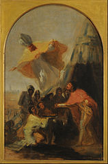 Apparition of Saint Isidore to Saint Ferdinand, king, before the walls of Seville