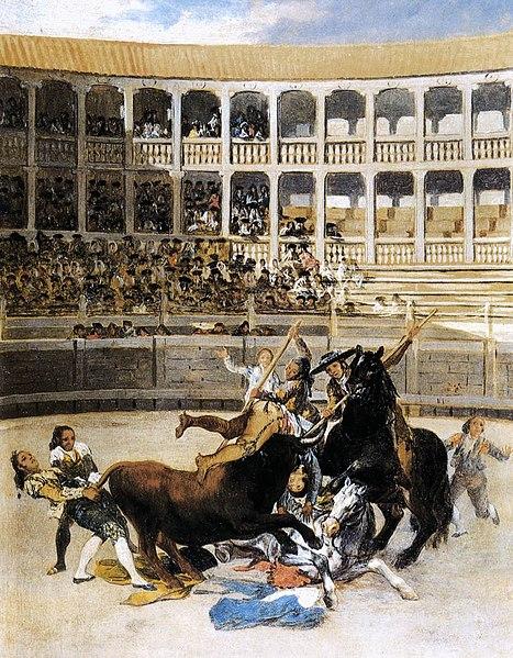 File:Francisco de Goya y Lucientes - Picador Caught by the Bull - WGA10013.jpg