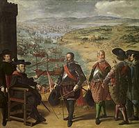 La defensa de Cádiz 1634 (302 x 323 cm.), Museo del Prado, Madrid