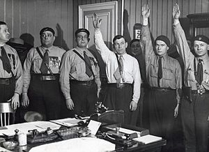 Marcel Bucard - From left to right: Marcel Bucard, Paul Lafitte and J.-B. L'Herault (Jan. 1934)