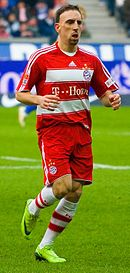 Ribéry con la maglia del Bayern Monaco