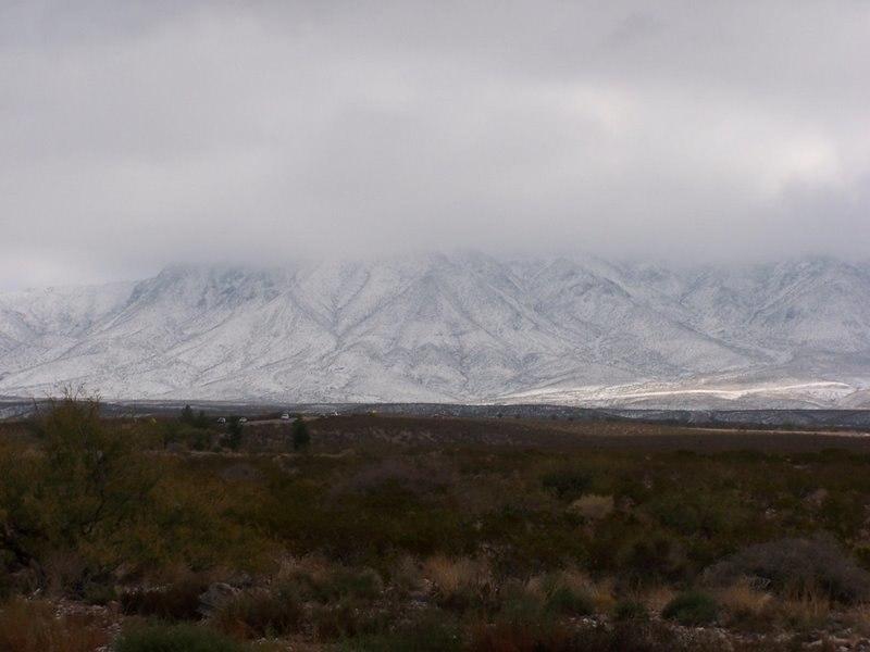 Franklin Mountain Snow