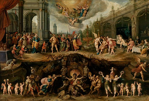 Frans Francken (II) - Mankind's Eternal Dilemma – The Choice Between Virtue and Vice