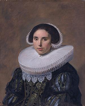 Nicolaes Hasselaer - Pendant marriage portrait of his second wife, Sara Wolphaerts van Diemen (1594-1667)