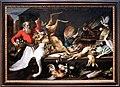 Frans snyders, natura morta con cacciagione, frutta e verdura in un marcato, 1614, 01.jpg