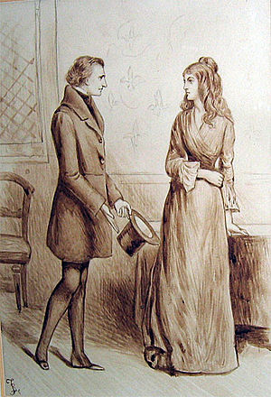 Dombey and Son - Illustration of Mr. Carker and Edith Dombey by Charles Green.