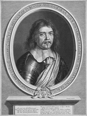 Frédéric Maurice de La Tour d'Auvergne - Portrait of Frédéric-Maurice de La Tour d'Auvergne by Robert Nanteuil