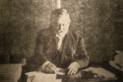 Dyer working on the Compendium, April 1908