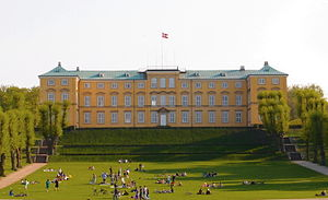 Frederiksberg Palace - Frederiksberg palace seen from Frederiksberg Gardens