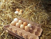 Uova di gallina appena raccolte.