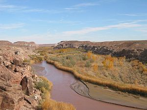 Fremont River (Utah) - The Fremont River near Caineville, looking south