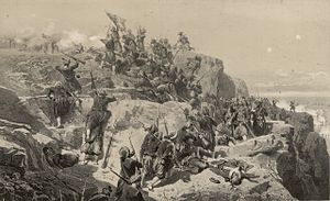 French Zouaves storming and capturing Telegraph Hill battle alma.jpg