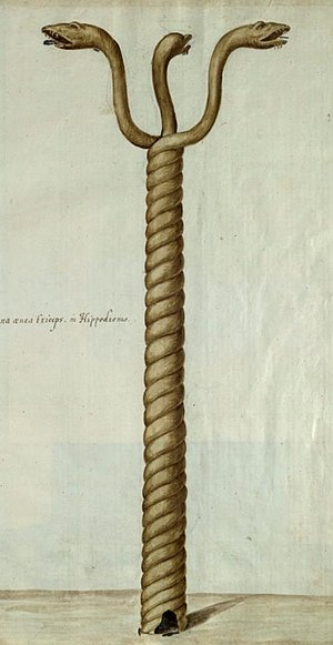 Serpent Column - Image: Freshfield Album, Serpent Column (fol 6) (cropped)