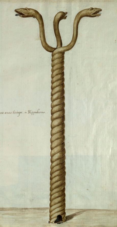 Freshfield Album, Serpent Column (fol 6) (cropped)