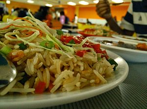 Chinese fried rice - Spicy, so-called Szechwan fried rice is actually a speciality of Indian-Chinese cuisine