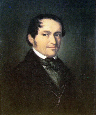 Friedrich Wieck - Wieck, aged 45, in the year he met Robert Schumann for the first time