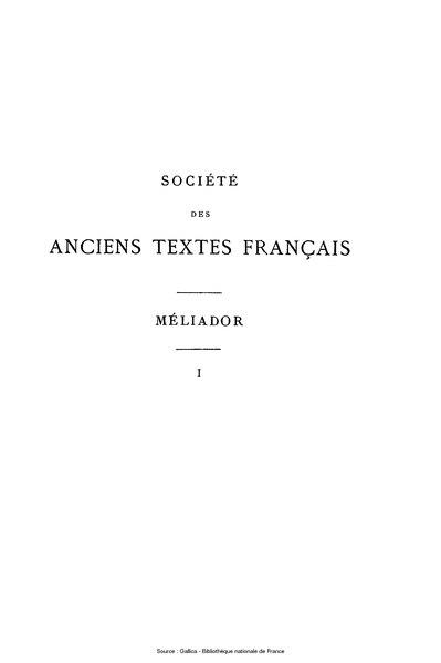 File:Froissart - Méliador, tome 1.djvu