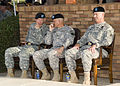 From left, U.S. Army Brig. Gen. Jeffrey W. Foley, commander, of U.S. Army Signal Center, and Fort Gordon; U.S. Army Lt. Gen. Robert L. Caslen, Jr., commanding general, of Combined Arms Center at Fort 100721-A-NF756-025.jpg