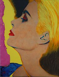 "James Gillin maalaus ""Grace Kelly in Sun"""