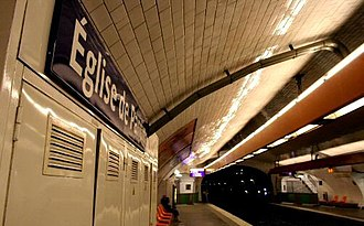 Église de Pantin (Paris Métro) - Image: GM Metro Station Eglise de Pantin 01c 02