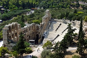 Odeon of Herodes Atticus - View of the theatre from the Acropolis
