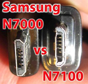 Mobile High-Definition Link - Not all micro USB 2.0 ports are identical. Compare connectors for original Galaxy Note with the Note II.