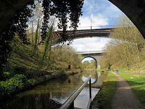 Smethwick - Galton Bridge viewed from the Galton Tunnel