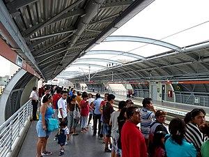 Lima Metro - Gamarra Station in La Victoria.
