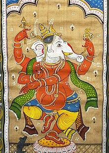 Il dio Ganesha in un'illustrazione indiana