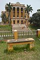 Garden Bench With Palace - Kathgola Gardens - Murshidabad 2017-03-28 6042.JPG