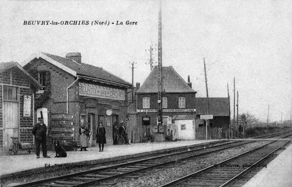 Intérieur de la gare de Beuvry-les-Orchies dans le département du Nord.