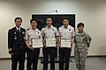 Garrison Commander Col. Eoff and the Senior Superintendent Chief of Yongsan Police Station Chin Jeong Mu congratulate the awardees.jpg