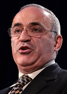 Garry Kasparov Russian chess grandmaster and political activist