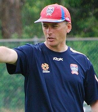Gary van Egmond - van Egmond coaching the Newcastle Jets at training in 2008