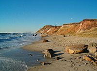 The Gay Head cliffs in Martha's Vineyard are m...