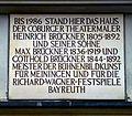Gedenktafel der Künstlerfamilie Brückner am Haus Ketschengasse 14 in Coburg.jpg