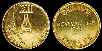 Gemini 12 - Gemini 12 space-flown Fliteline Medallion
