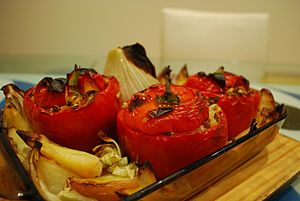 Stuffed peppers - Greek Yemista