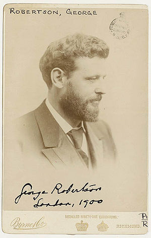 George Robertson (publisher) - George Robertson in London, 1900