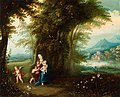 Gerard de la Vallée, Pieter van Avont - Wooded Landscape with the Virgin, Christ Child and Saint John.jpg