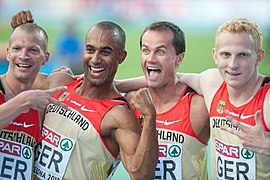 Germany 4 x 100 m relay Barcelona 2010.jpg