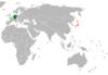 Lage von Deutschland und Japan