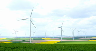 Energy in France - Wind farm in France.
