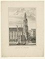 Gezicht op de Munttoren te Amsterdam Munt Toren te Amsterdam (titel op object) Gezichten van de Zes Voornaamste Torens der Stad Amsterdam. 2de Cahier (serietitel), RP-P-1905-1071.jpg