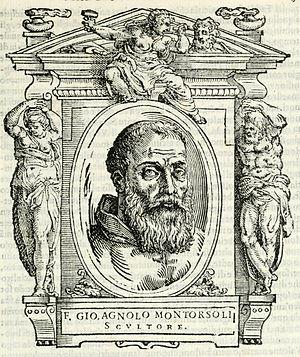 Giovanni Angelo Montorsoli - Portrait of Giovanni Angelo Montorsoli from the 1568 edition of ''Le vite de' piv eccellenti pittori, scvltori, et architettori'' by Giorgio Vasari (Florence: Giunti)